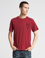 Saturdays NYC Deep Red Vertical NY T-Shirt