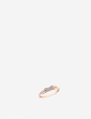 Chaumet Jeux de Liens 18ct rose-gold and diamond ring