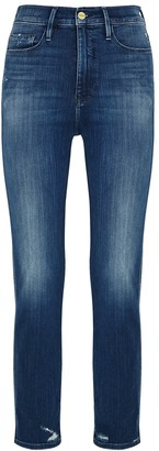 Frame Le Sylvie Crop Blue Straight-leg Jeans
