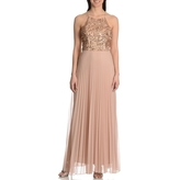 Cachet Sequin Pleated Long Dress 56902