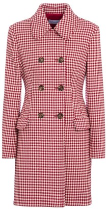 RED Valentino gingham wool and cotton-blend coat