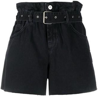 AllSaints Belted Denim Shorts