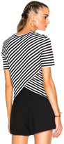 A.L.C. Tessi Tee in Black,Stripes.