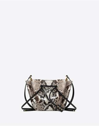 Valentino Garavani Medium Vlogo Python Skin Bucket Bag