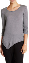 Splendid Splice Asymmetric Long Sleeve Tee