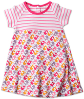 Zutano Pink Ella's Elephants Raglan-Sleeve Dress - Toddler
