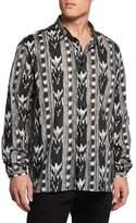 Saint Laurent Ikat-Print Dress Shirt