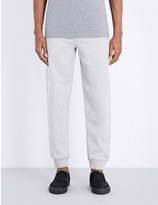 McQ by Alexander McQueen Logo-embroidered cotton-jersey jogging bottoms
