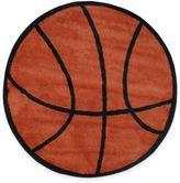 Fun Rugs Fun RugsTM Basketball Shape 39-Inch Round Area Rug in Orange/Black