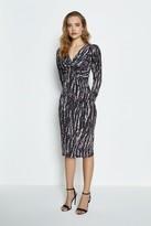 Coast Printed Twist Front Jersey Dress
