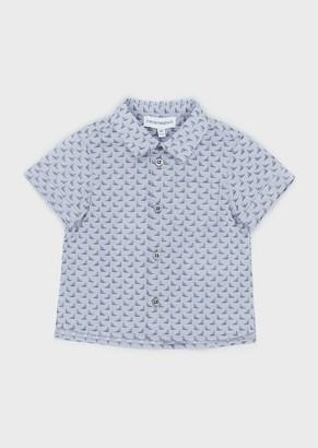 Emporio Armani Shirt With All-Over Jacquard Logo