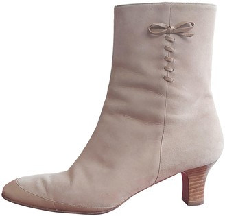 Salvatore Ferragamo Beige Suede Ankle boots