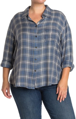 Angie Long Sleeve Plaid Button Up Shirt