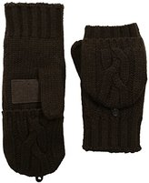 Isotoner Women's Chunky Cable Knit Flip Top Gloves