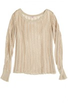 Calypso St. Barth Varinka Open Knit Cotton Blend Pullover