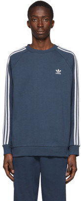 adidas Blue 3-Stripes Sweatshirt