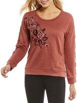 Jolt Floral-Embroidered Sweatshirt