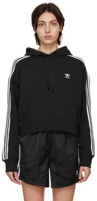 adidas Black Adicolor Classics Crop Hoodie