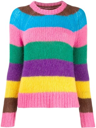 Chinti and Parker Striped Knit Jumper
