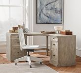 Pottery Barn Livingston Corner Desk, Gray