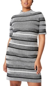 Cotton On Women's Trendy Plus Size Tahlia True Knit Mini Dress
