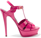 Saint Laurent Classic Tribute 105 patent-leather sandals