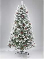 Very Bavarian Pine Christmas Tree with Snow - 7ft