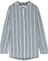 Zimmermann Zephyr Embroidered Striped Cotton And Linen-Blend
