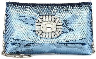 Jimmy Choo Titania embellished sequined clutch