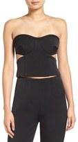 KENDALL + KYLIE Women's 'Tuxedo' Cutout Strapless Bustier