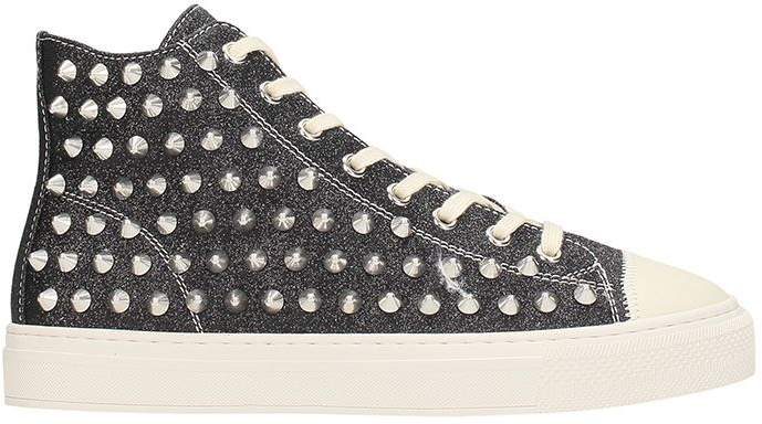 Gienchi Jean Michel Black Glitter Sneakers