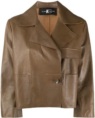 Luisa Cerano Boxy Leather Jacket