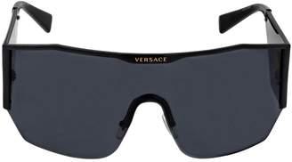 Versace Medusa Logo Oversize Mask Sunglasses