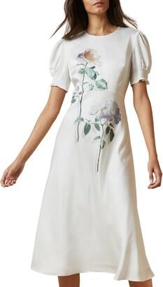 Ted Baker Fleu Bouquet Bias Cut Dress