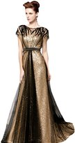 Snowskite Womens A-line High Neck Beaded Long Sequins Party Dress 24