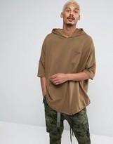 Asos Super Oversized Longline Short Sleeve Hoodie