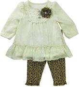 Nanette Baby Nanette Long-Sleeve Top & Leopard-Print Leggings Set - Baby Girls