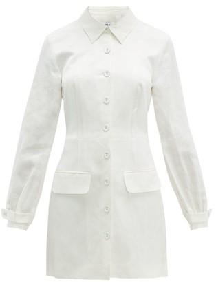 Sir - Inez Cut-out Linen-blend Shirtdress - Womens - Ivory