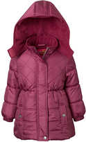 Pink Platinum Magenta Quilted Puffer Coat - Toddler & Girls