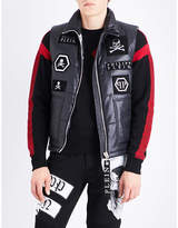 Philipp Plein Badge-detailed Sleeveless Shell Jacket