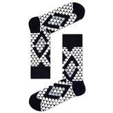 Happy Socks Black/White/Grey Snake Socks - Size 10-13