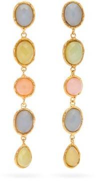 Sylvia Toledano - Quartz, Onyx & Chalcedony Clip Earrings - Womens - Multi