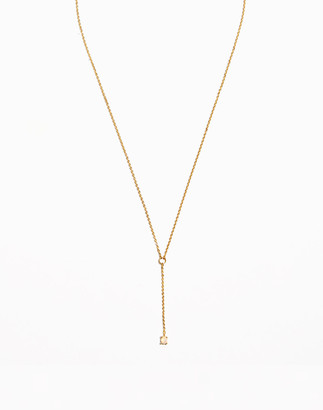 Madewell Delicate Collection Demi-Fine Opal Pendant Chain Necklace