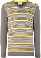 Lyle And Scott Golf Stripe V-neck Pullover