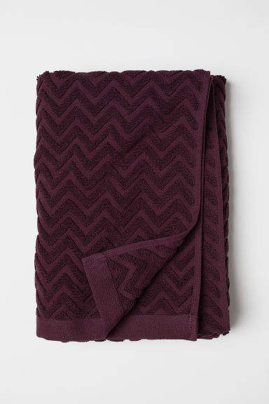 H&M Jacquard-patterned Bath Towel - Red