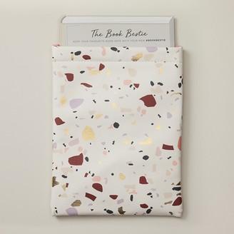 Indigo Paper Marble Book Bestie Book Sleeve Terrazzo Gold