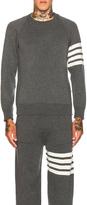 Thom Browne Cashmere 4 Bar Stripe Crewneck Sweatshirt