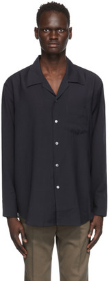 Our Legacy Navy Wool Loco Shirt