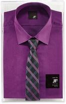 Jf J.Ferrar JF Slim-Fit Shirt and Tie Box Set