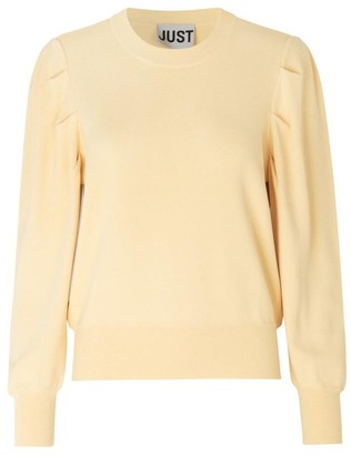 Just Female Amber Knit Banana Crepe Jumper - S